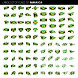 Jamaica flag, vector illustration Stock Images