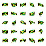 Jamaica flag, vector illustration Royalty Free Stock Photo