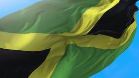 Jamaica flag video waving in wind 4K