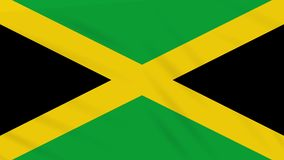 Jamaica flag waving cloth, background loop. Jamaica flag waving cloth, ideal for background loop stock illustration