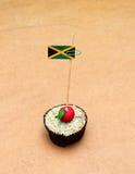 Jamaica flagga på en äpplemuffin Royaltyfri Fotografi