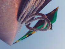 Jamaica flaggapol Royaltyfria Foton