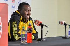 Jamaica fotbollMen's medborgare Team Head Coach Theodore Whitmor Royaltyfri Bild