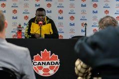 Jamaica fotbollMen's medborgare Team Head Coach Theodore Whitmor Arkivfoto