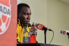 Jamaica fotbollMen's medborgare Team Head Coach Theodore Whitmor Royaltyfri Foto