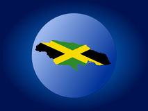 Jamaica globe illustration Royalty Free Stock Photos