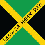 Jamaica happy day! Greeting card. Stock Images