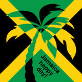 Jamaica happy day! Greeting card. Royalty Free Stock Photography