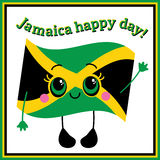 Jamaica happy day! Greeting card. Royalty Free Stock Images