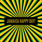 Jamaica happy day! Greeting card. Stock Photo