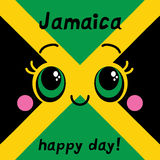 Jamaica happy day! Greeting card. Royalty Free Stock Image