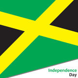 Jamaica independence day. With flag vector illustration for web Royalty Free Stock Image