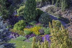 Sunken Garden In British Columbia royalty free stock photo