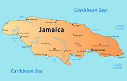 Jamaica map royalty free stock image