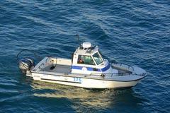 Jamaica Marine Division Police Boat Royaltyfri Foto