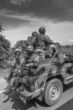 Jamaica Military Patrol Royalty Free Stock Images