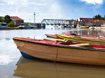 Jamaica. National boats on the Black river Stock Photography