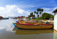 Jamaica. National boats on  Black river Stock Images