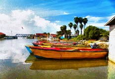 Jamaica. National boats on the Black river Royalty Free Stock Photo