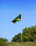 Jamaica. National flag. On the green hill Stock Image