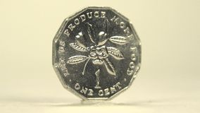 Jamaica One Cent stock footage