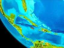 Jamaica på jord från utrymme Arkivbilder