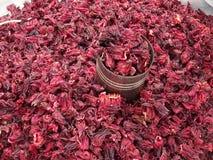 Jamaica para la venta en un mercado en Chilpancingo Fotos de archivo