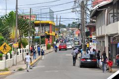 JAMAICA PEOPLE. Central street in Ocho Rios, Jamaica Royalty Free Stock Photo