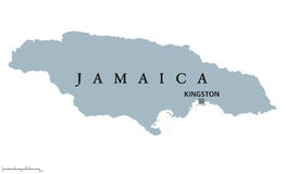 Jamaica political map Royalty Free Stock Images