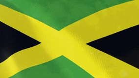 Jamaica realistic flag animation. Usable for Background and Texture royalty free illustration