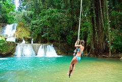 Jamaica rope jumping Royalty Free Stock Photos