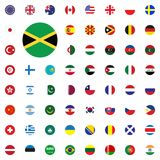 Jamaica round flag icon. Round World Flags Vector illustration Icons Set. Jamaica round flag icon. Round World Flags Vector illustration Icons Set Stock Photo
