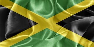 Jamaica satin flag vector illustration