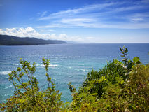 Jamaica. The sea in the sunny day and mountains. Stock Photos
