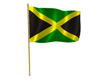 Jamaica silk flag Stock Photo