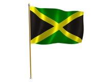 Jamaica silk flag. Silk flag of Jamaica Stock Photo