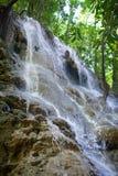 jamaica Små vattenfall i djungel Royaltyfri Bild