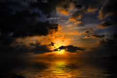 jamaica solnedgång Royaltyfri Foto