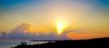 Jamaica soluppgång arkivfoton