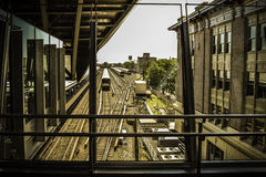 Jamaica Station. View from the Jamaica Station in New York stock image