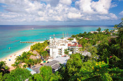 Jamaica strand, Montego Bay royaltyfria foton