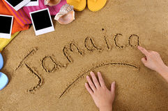 Jamaica strandbakgrund arkivfoto