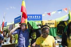 Jamaica studenter på den internationella festivalen Arkivbild