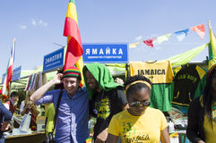 Jamaica students at  the international festival Stock Photography