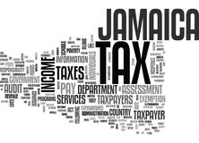 Jamaica Tax Word Cloud Concept royalty free illustration