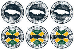 Jamaica Tourism Stamps Royalty Free Stock Images