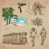 Jamaica Travel - An hand drawn vector pack Royalty Free Stock Photography