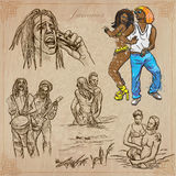 Jamaica Travel - An hand drawn vector pack Royalty Free Stock Photos