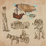 Jamaica Travel - An hand drawn vector pack Royalty Free Stock Images