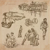 Jamaica Travel - An hand drawn vector pack. Travel: JAMAICA (set no.5) - Collection of an hand drawn vector illustrations. Each drawing comprise three layers of Stock Photo